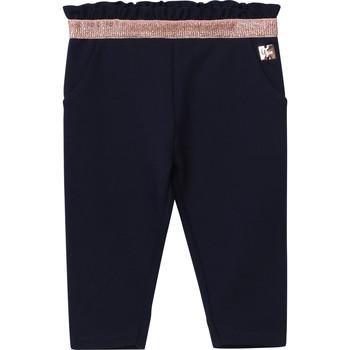 Textil Dívčí Kapsáčové kalhoty Carrément Beau Y94194 Modrá