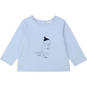 Textil Chlapecké Trička s dlouhými rukávy Carrément Beau Y95249 Modrá