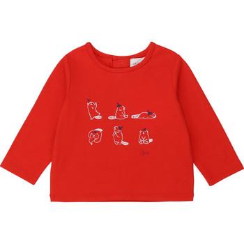 Textil Dívčí Trička s dlouhými rukávy Carrément Beau Y95252 Červená