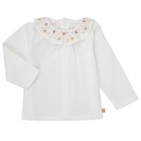 Textil Dívčí Trička s dlouhými rukávy Carrément Beau Y95244 Bílá