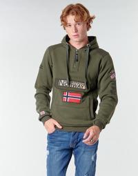 Textil Muži Mikiny Geographical Norway GYMCLASS Khaki