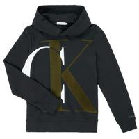 Textil Chlapecké Mikiny Calvin Klein Jeans IB0IB00628-BEH Černá