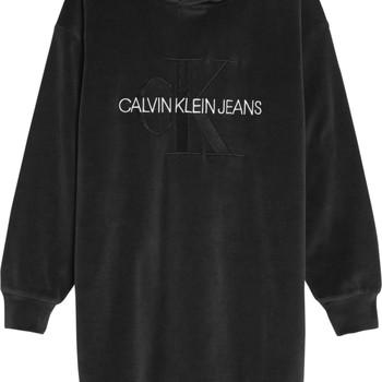 Textil Dívčí Krátké šaty Calvin Klein Jeans IG0IG00711-BEH Černá