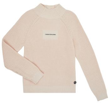 Textil Dívčí Svetry Calvin Klein Jeans IG0IG00680-PGB Šedá