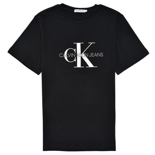 Textil Děti Trička s krátkým rukávem Calvin Klein Jeans MONOGRAM Černá