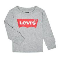 Textil Chlapecké Trička s dlouhými rukávy Levi's BATWING TEE LS Šedá