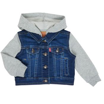 Textil Chlapecké Riflové bundy Levi's INDIGO JACKET Modrá