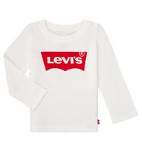 Textil Dívčí Trička s dlouhými rukávy Levi's BATWING TEE LS Bílá