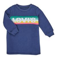 Textil Dívčí Krátké šaty Levi's SWEATSHIRT DRESS Modrá