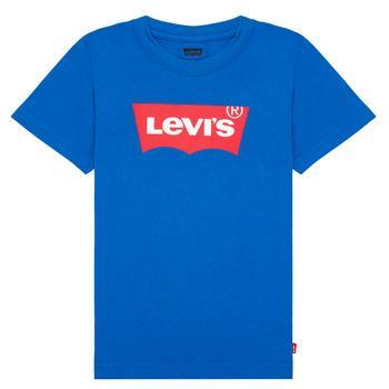 Textil Chlapecké Trička s krátkým rukávem Levi's BATWING TEE Modrá