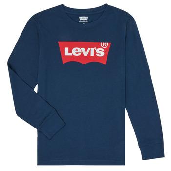 Textil Chlapecké Trička s dlouhými rukávy Levi's BATWING TEE LS Modrá