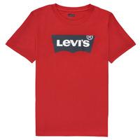 Textil Chlapecké Trička s krátkým rukávem Levi's BATWING TEE Červená
