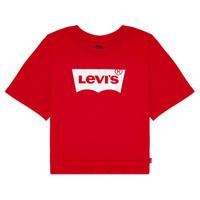 Textil Dívčí Trička s krátkým rukávem Levi's LIGHT BRIGHT CROPPED TEE Červená