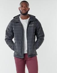 Textil Muži Prošívané bundy Columbia POWDER LITE HOODED JACKET Černá