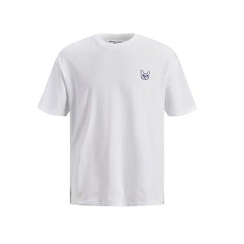 Textil Chlapecké Trička s krátkým rukávem Jack & Jones JJAARHUS TEE Bílá