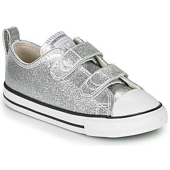 Boty Dívčí Nízké tenisky Converse CHUCK TAYLOR ALL STAR 2V - COATED GLITTER Stříbrná