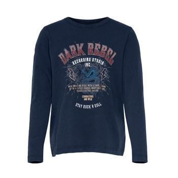 Textil Dívčí Trička s krátkým rukávem Only KONLUCY LIFE Tmavě modrá