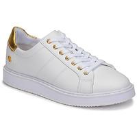 Boty Ženy Nízké tenisky Lauren Ralph Lauren ANGELINE II Bílá / Zlatá