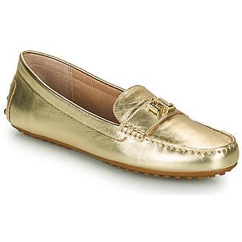 Boty Ženy Mokasíny Lauren Ralph Lauren BARNSBURY FLATS CASUAL Zlatá
