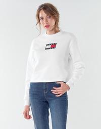 Textil Ženy Mikiny Tommy Jeans TJW TOMMY FLAG CREW Bílá