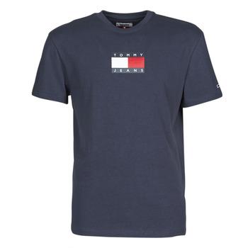 Textil Muži Trička s krátkým rukávem Tommy Jeans TJM SMALL FLAG TEE Tmavě modrá