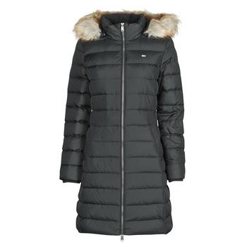 Textil Ženy Prošívané bundy Tommy Jeans TJW ESSENTIAL HOODED DOWN COAT Černá