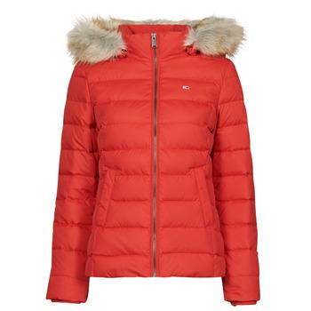 Textil Ženy Prošívané bundy Tommy Jeans TJW BASIC HOODED DOWN JACKET Červená