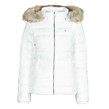 Textil Ženy Prošívané bundy Tommy Jeans TJW BASIC HOODED DOWN JACKET Bílá