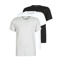 Textil Muži Trička s krátkým rukávem Calvin Klein Jeans CREW NECK 3PACK Šedá / Černá / Bílá