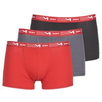 Spodní prádlo  Muži Boxerky DIM COTON STRETCH Šedá / Červená / Černá