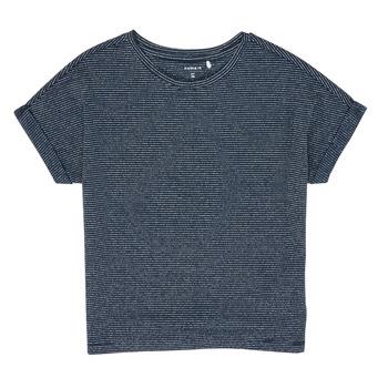 Textil Dívčí Trička s krátkým rukávem Name it NKFKYRRA Tmavě modrá
