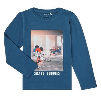 Textil Chlapecké Trička s dlouhými rukávy Name it NMMMICKEY EMIL Tmavě modrá