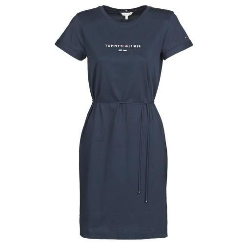 Textil Ženy Krátké šaty Tommy Hilfiger TH ESS HILFIGER REG C-NK DRS SS Tmavě modrá