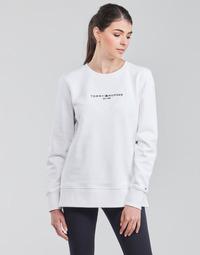 Textil Ženy Mikiny Tommy Hilfiger TH ESS HILFIGER C-NK SWEATSHIRT Bílá