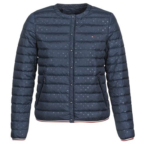 Textil Ženy Prošívané bundy Tommy Hilfiger BELLA COLLARLESS LW DWN REV JKT Tmavě modrá