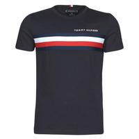 Textil Muži Trička s krátkým rukávem Tommy Hilfiger GLOBAL STRIPE TEE Tmavě modrá
