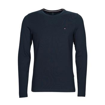 Textil Muži Trička s dlouhými rukávy Tommy Hilfiger STRETCH SLIM FIT LONG SLEEVE TEE Černá