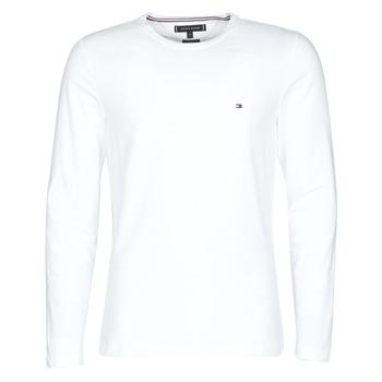Textil Muži Trička s dlouhými rukávy Tommy Hilfiger STRETCH SLIM FIT LONG SLEEVE TEE Bílá