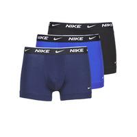 Spodní prádlo  Muži Boxerky Nike EVERYDAY COTTON STRETCH Černá / Tmavě modrá / Modrá