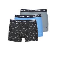 Spodní prádlo  Muži Boxerky Nike EVERYDAY COTTON STRETCH Černá / Šedá / Modrá