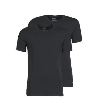 Textil Muži Trička s krátkým rukávem Nike EVERYDAY COTTON STRETCH Černá