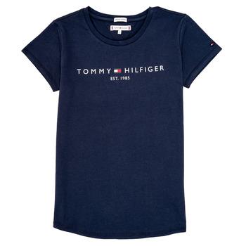 Textil Dívčí Trička s krátkým rukávem Tommy Hilfiger KG0KG05242-C87 Tmavě modrá