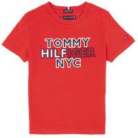 Textil Chlapecké Trička s krátkým rukávem Tommy Hilfiger KB0KB05848-XNL Červená