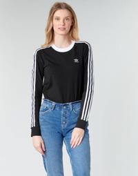 Textil Ženy Trička s dlouhými rukávy adidas Originals 3 STR LS Černá