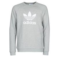 Textil Muži Mikiny adidas Originals TREFOIL CREW Šedá