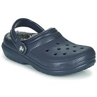 Boty Děti Pantofle Crocs CLASSIC LINED CLOG K Modrá
