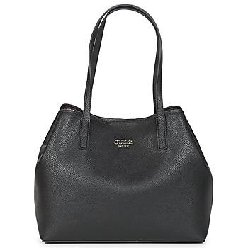 Taška Ženy Velké kabelky / Nákupní tašky Guess VIKKY TOTE Černá