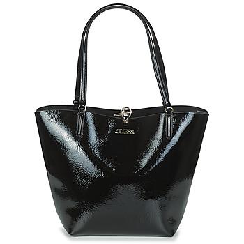 Taška Ženy Velké kabelky / Nákupní tašky Guess ALBY TOGGLE TOTE Černá