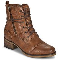 Boty Ženy Kotníkové boty Mustang 1229508 Zlatohnědá