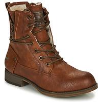 Boty Ženy Kotníkové boty Mustang 1139630 Zlatohnědá